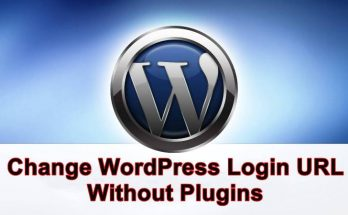 change wordpress login url without plugin